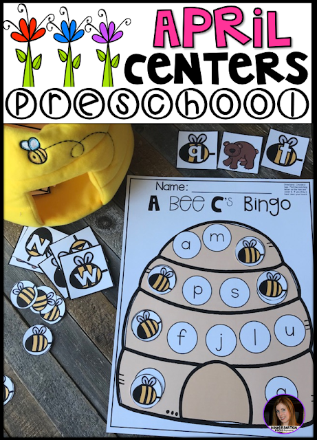 Are you looking for fun and simple thematic centers that you can prep quickly for your preschool classroom? Spring Centers for Preschool April were created for children ages 4-6.