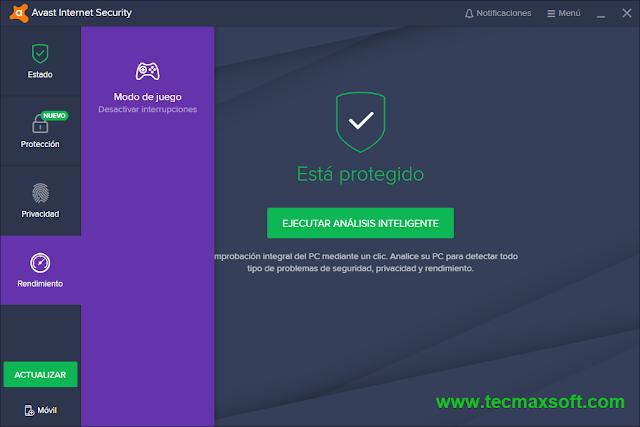 Avast Internet Security 2018 lave de licencia gratis captura 5