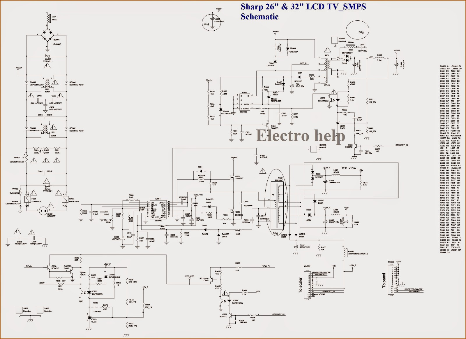 Electro Help Sharp Lc 19s7ebk