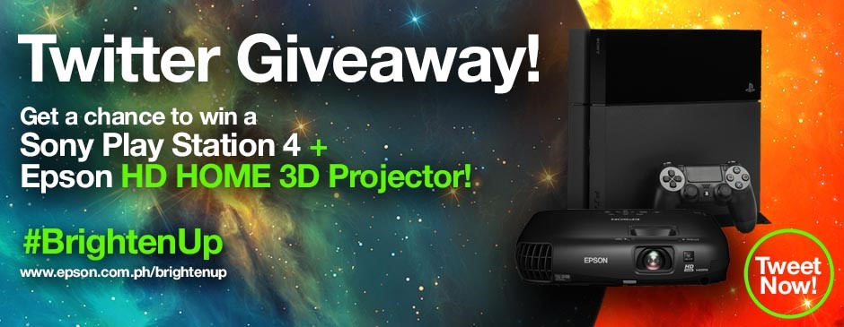 Epson BrightenUp Twitter Giveaway
