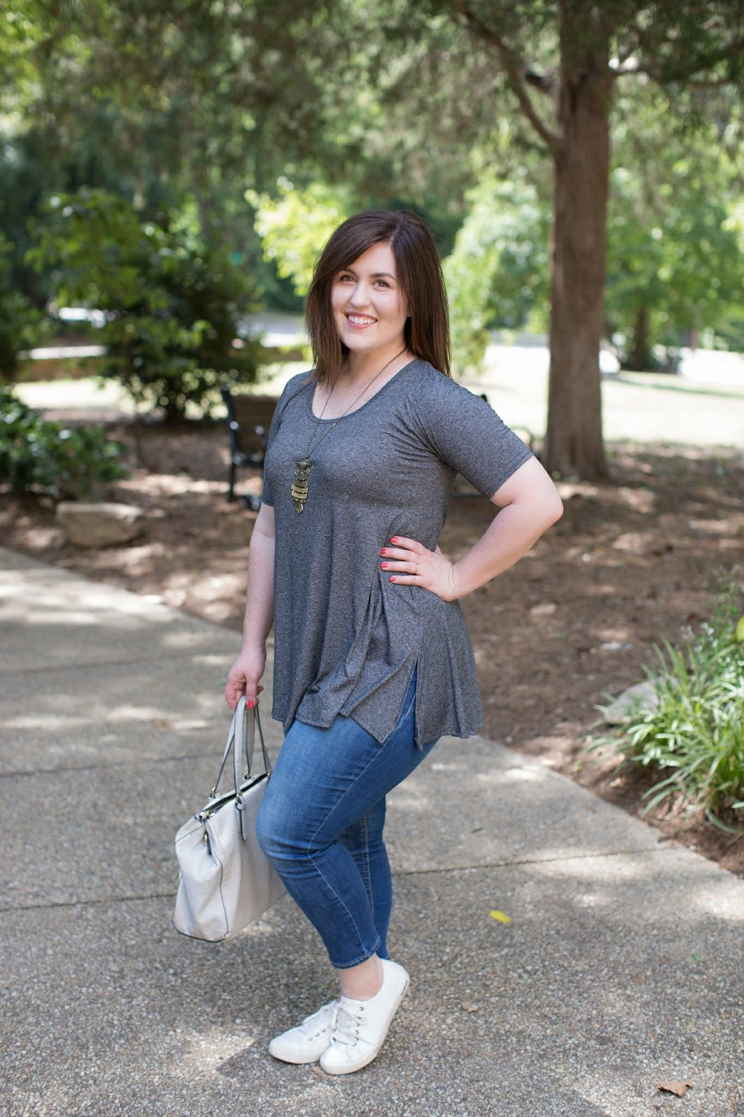 My Lularoe Perfect Tee by popular North Carolina style blogger Rebecca Lately