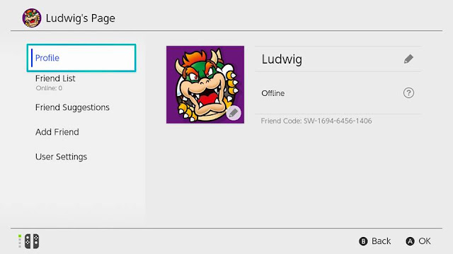 PrinceOfKoopas Ludwig friend code Nintendo Switch purple Bowser