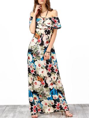 Vestido Boho Longo Floral