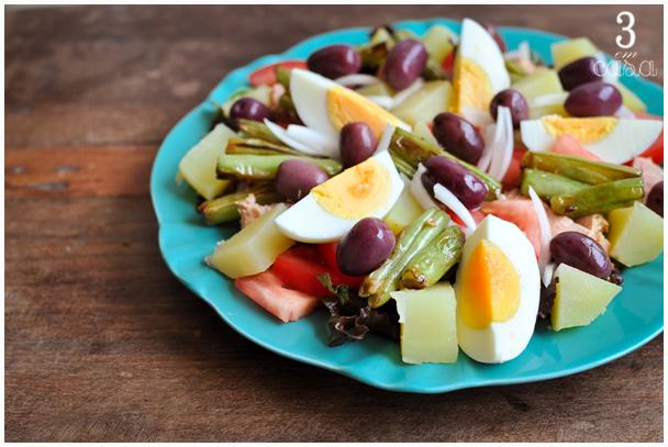como fazer salada niçoise