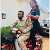 Regina Daniels Pictured Standing On A Bike, Holding An AK-47, About To Shoot (Photos)