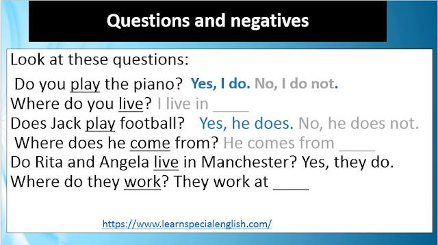 Present simple Questions and Answers