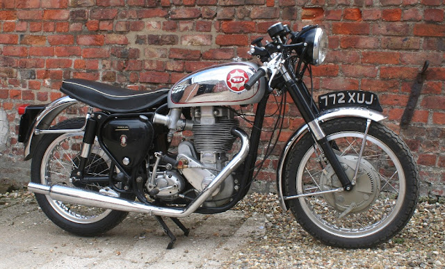 BSA DBD34 Gold Star 1950s British classic motorcycle