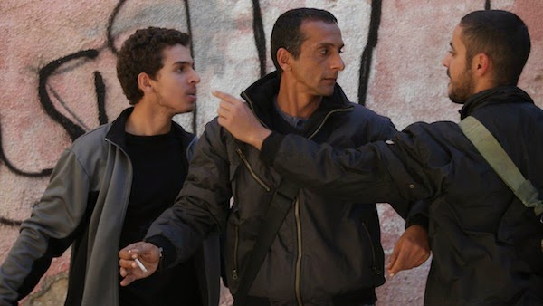 Hitham Omari and Shadi Mar'i clash in Bethlehem.