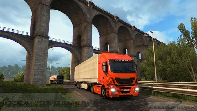 تحميل لعبة Euro Truck Simulator 2 pc 2017 كاملة مجانا