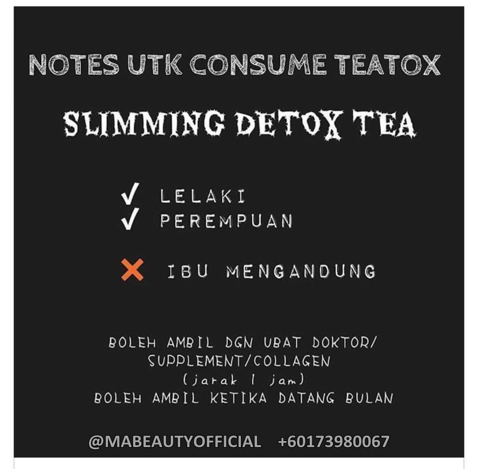 SLIMMING DETOX TEA / KAKICANTIQ TEA : Kurus Dengan Mudah ...