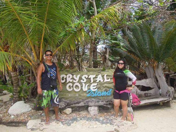 At the Crystal Cove Island entrance in Boracay