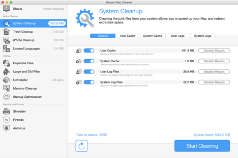 Movavi Mac Cleaner Remove MacOS Junks