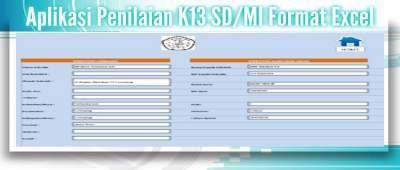 Aplikasi Penilaian K13 SDMI Format Excel