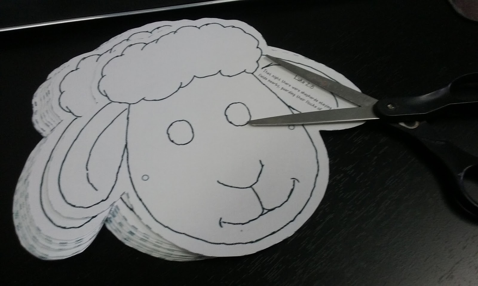 The Confident Journal: Sunday School Craft - Christmas Sheep Mask