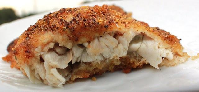Italian Baked Parmesan Cracker Crusted Flounder