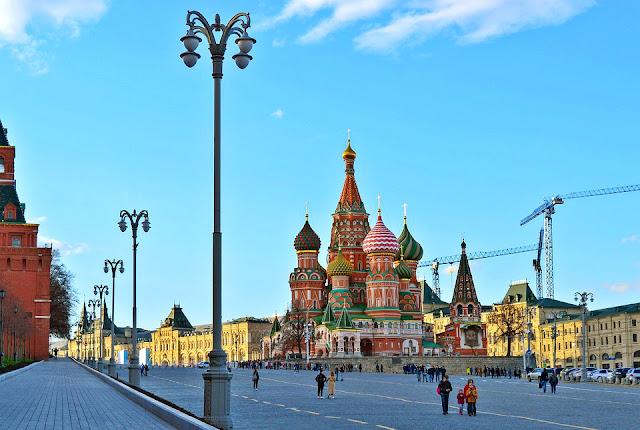 Praça Vermelha em Moscou na Russia.