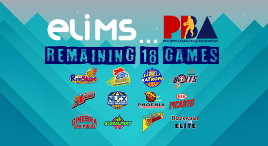 List of 18 remaining games for elimination round 2018 PBA Philippine Cup