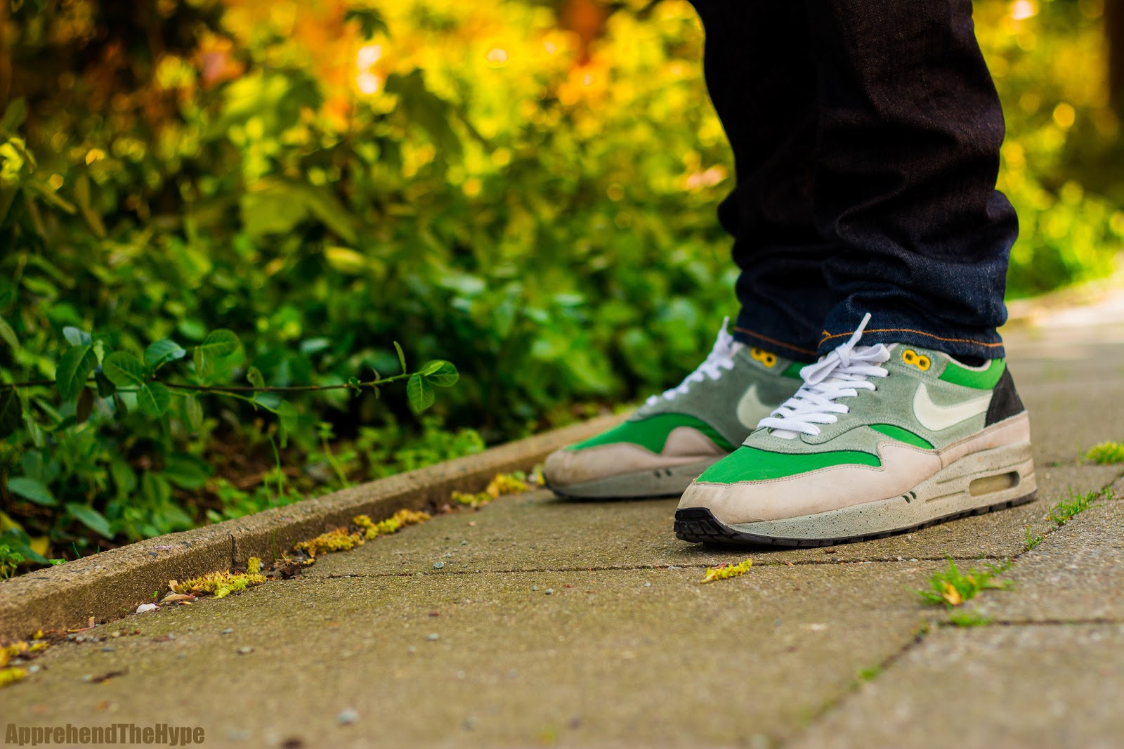 ea6da08656 apprehend the hype: Nike Air Max 1 - Skull Pack / Green