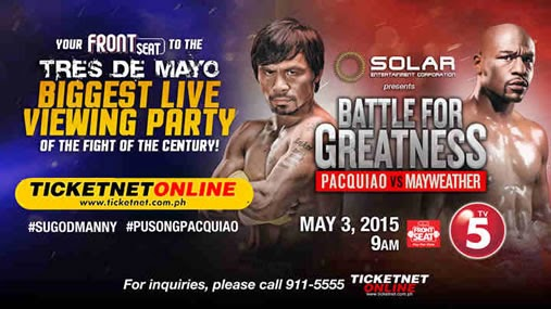 List of Venues That You Can Watch Pacquiao-Mayweather MegaFight