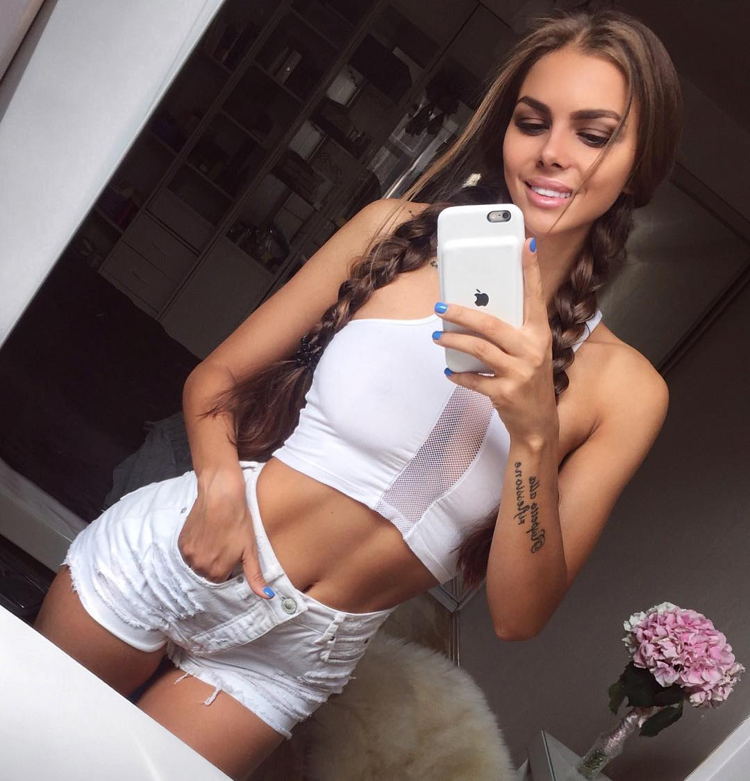 Viki Odintcova Looks Hot in White Sports Dress