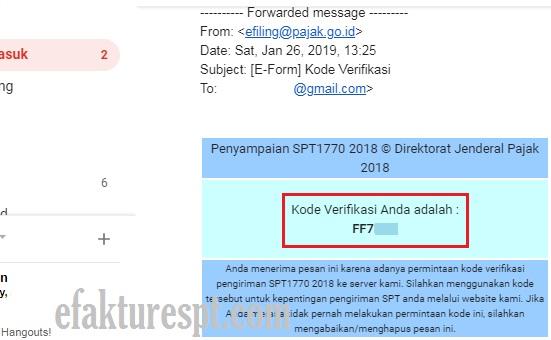 Kode Verifikasi e-Form Tidak Akan Berubah