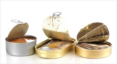 Makanan pantangan Bagi Penderita Asam Urat, Makanan Kaleng