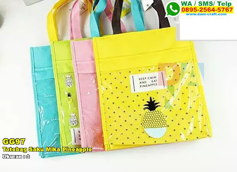 Totebag Saku Mika Pineapple