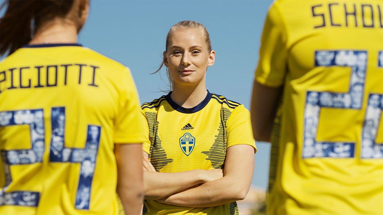 Image result for swedish women's world cup kit