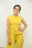 Taapsee Pannu looks mesmerizing in Yellow for her Telugu Movie Anando hma motion poster launch ~  Exclusive 115.JPG