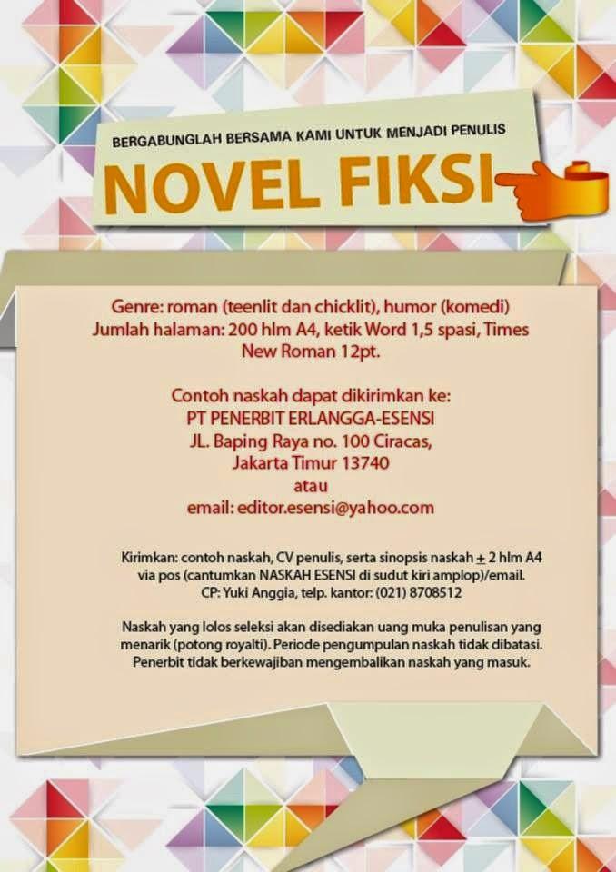 Kirim Novelmu Ke Penerbit Erlangga