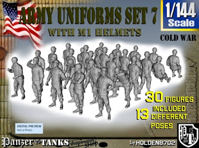 1-144 Army Modern Uniforms Set 7 picture 1
