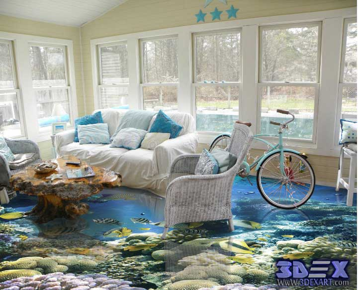 Latest catalog of 3d epoxy flooring and 3d floor art designs for Design your living room online 3d