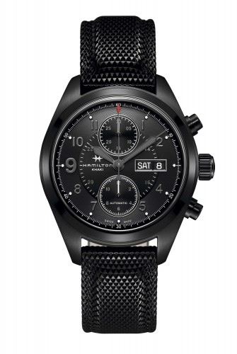 Hamilton Khaki Field Auto Chrono Full Black