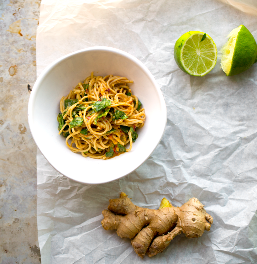 Spicy Peanut-Ginger-Lime Soba Noodles
