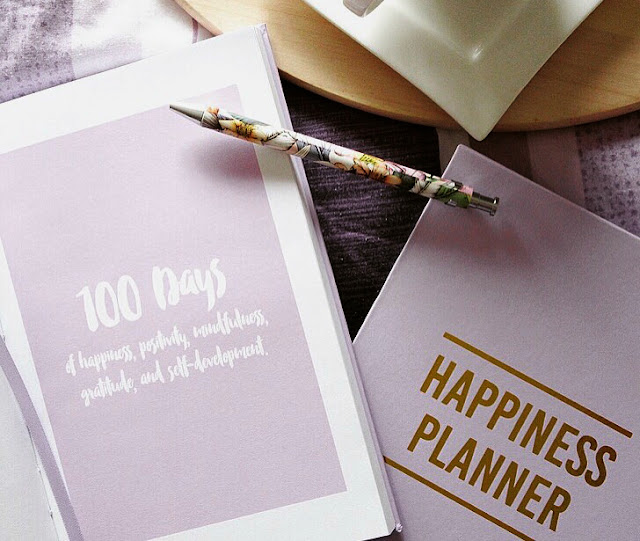 Happiness Planner 100 Days Lavender
