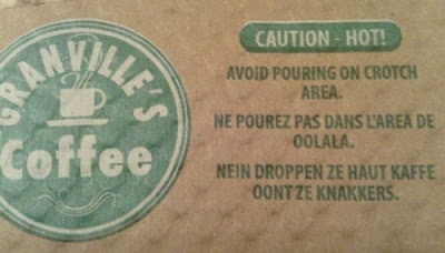 caution hot coffee avoid pouring on crotch funny warning