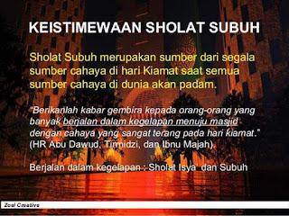 Keistimewaan Sholat Shubuh Berjamaah Di Masjid