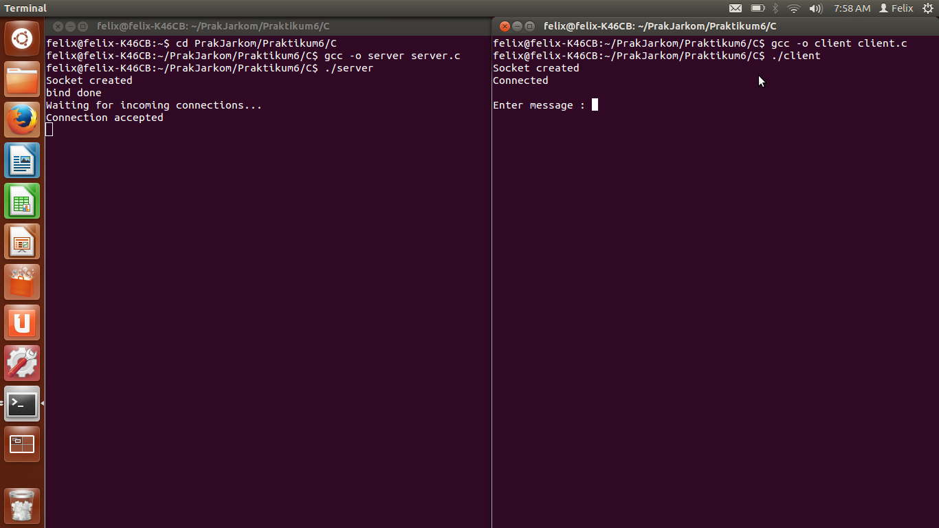Felix Tanamas: Socket Programming in C on Linux