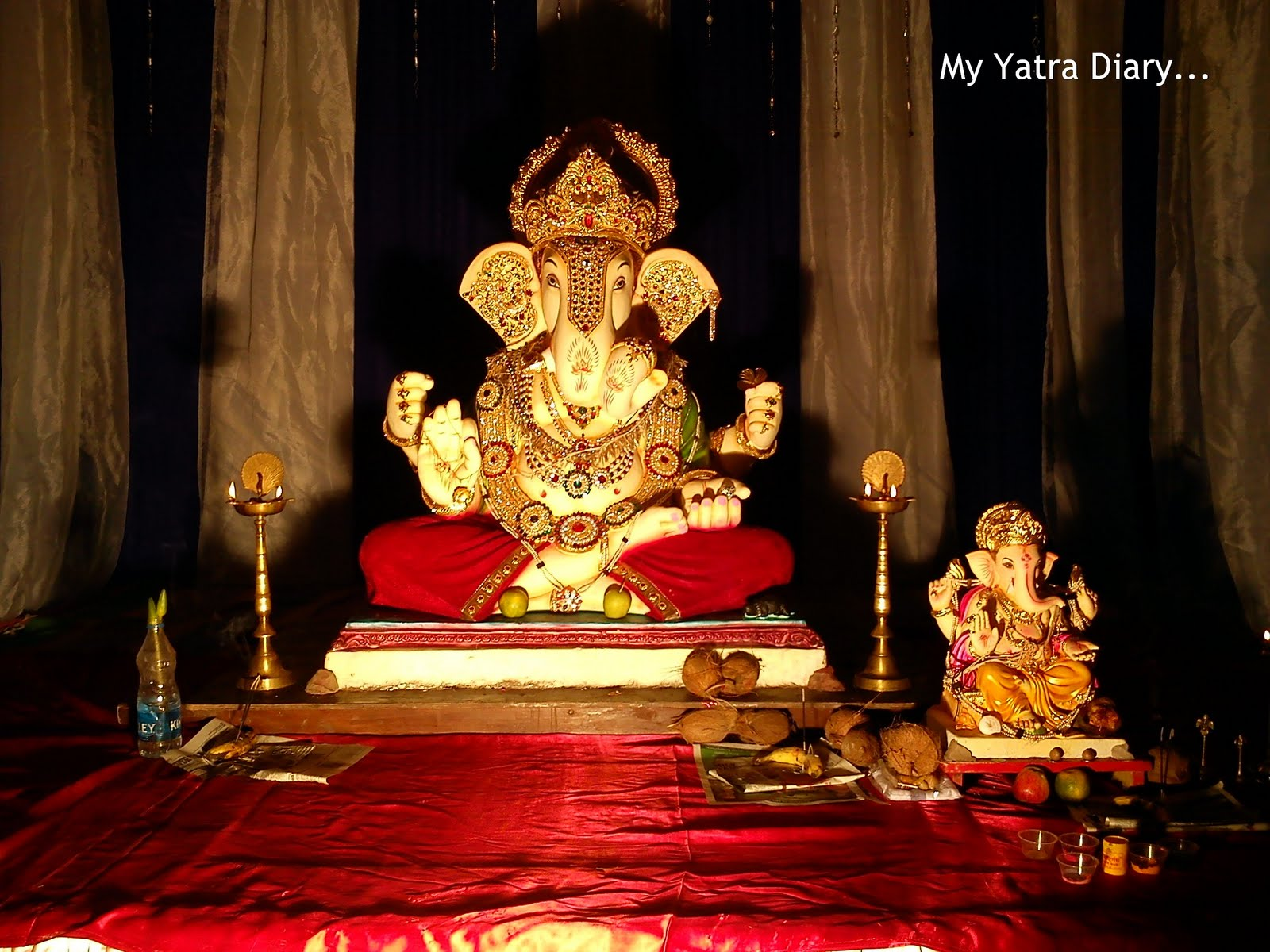simple home decoration for ganesh puja ganesh chaturthi decoration