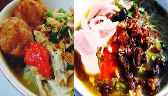 Gambar sajian resep soto asli padang dengan daging empuk enak dan lezat