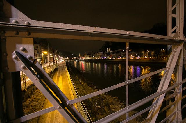 Vista dal ponte Mozartsteg-Salisburgo