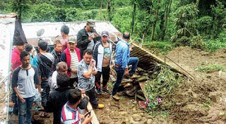 Landslide in Lodhoma due to Incessant rainfall