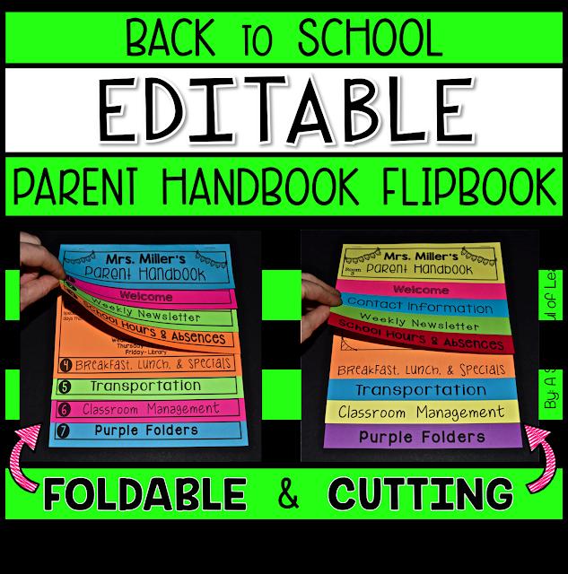 FOLDABLE PARENT HANDBOOK FLIPBOOK