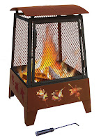 Landmann Haywood Tree Leaves Sturdy Steel Fire Pit