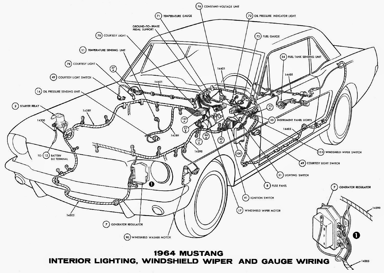 1964 Mustang Wiring Diagrams   Schematic Wiring Diagrams Solutions