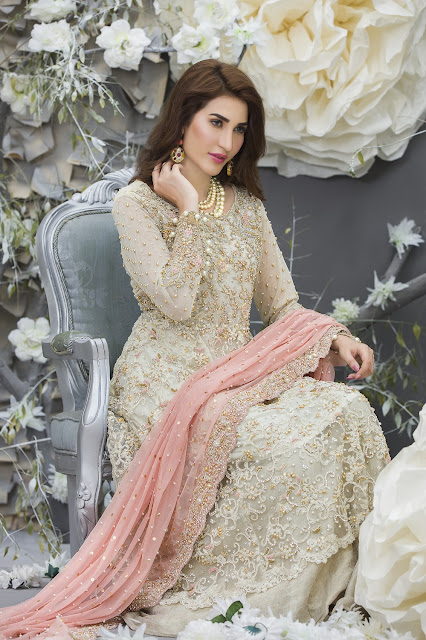 Pakistani Model Abeer Rizvi Looks Gorgeous in Indo Western Dress