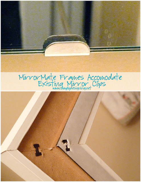 how to frame bathroom mirror with clips installing bathroom mirror frames 26095