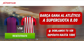 sportium supercuota 8 Barcelona vs Atletico + 100€ 6 abril 2019