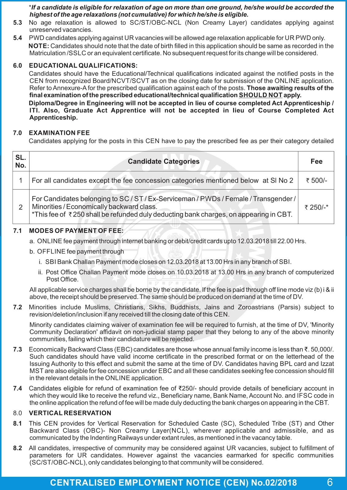 Railway RRB Group-D Official Notification 2018 Out