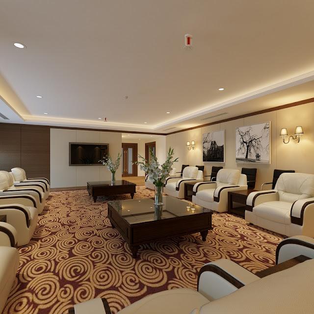 Lựa chọn nội thất phòng khánh tiết phải tạo sự sang trọng và hiện đại để cuộc trao đổi trở nên thuận lợi